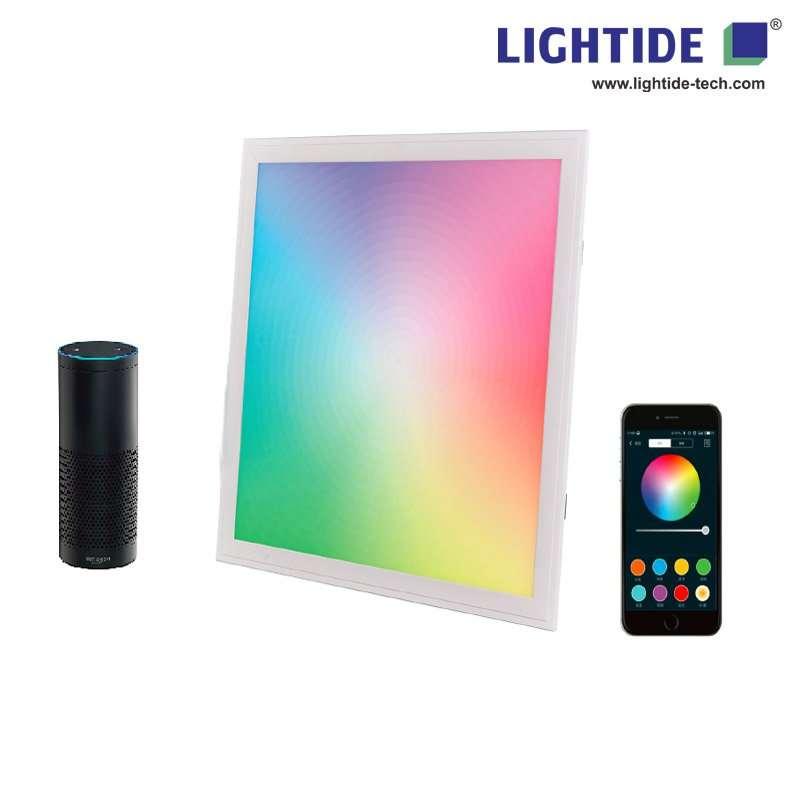 Smart RGBW led panel lights with bluetooth & Alexa speaker voice control